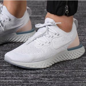 Nike Epic React Flyknit Shoes Pure Platinum